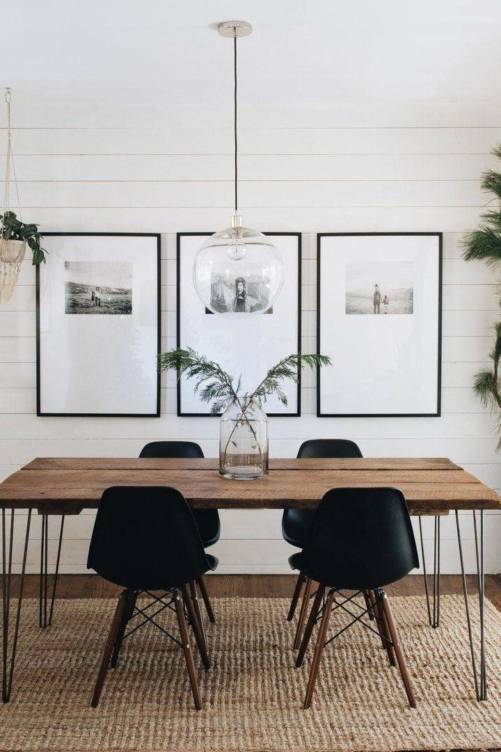 Merry Minimal A sneak peek at our simple holiday decor + get info and sources for our dining room frames #diningroom