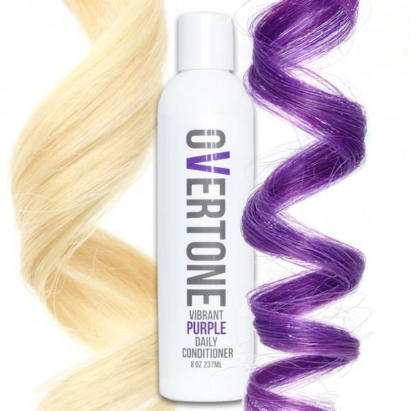 Say Goodbye To Faded Purple Hair Dye With Overtone Color Conditioner More Hydrating Than Purple Shampoo And Available Dyed Hair Purple Color Conditioner Hair