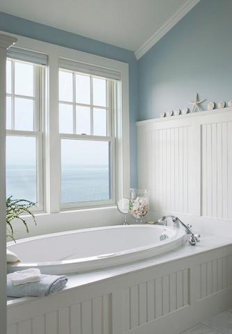 Elements Of A Cape Cod Bathroom Design For A Luxurious Small Bathroom House Bathroom Beach Bathrooms Bathroom Styling