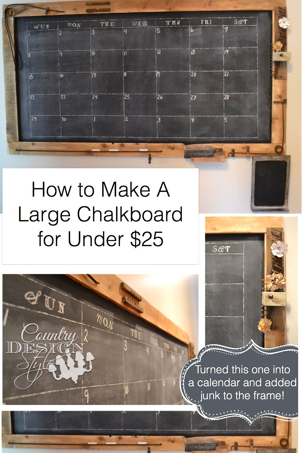How To Make A Large Chalkboard Country Design Style Large