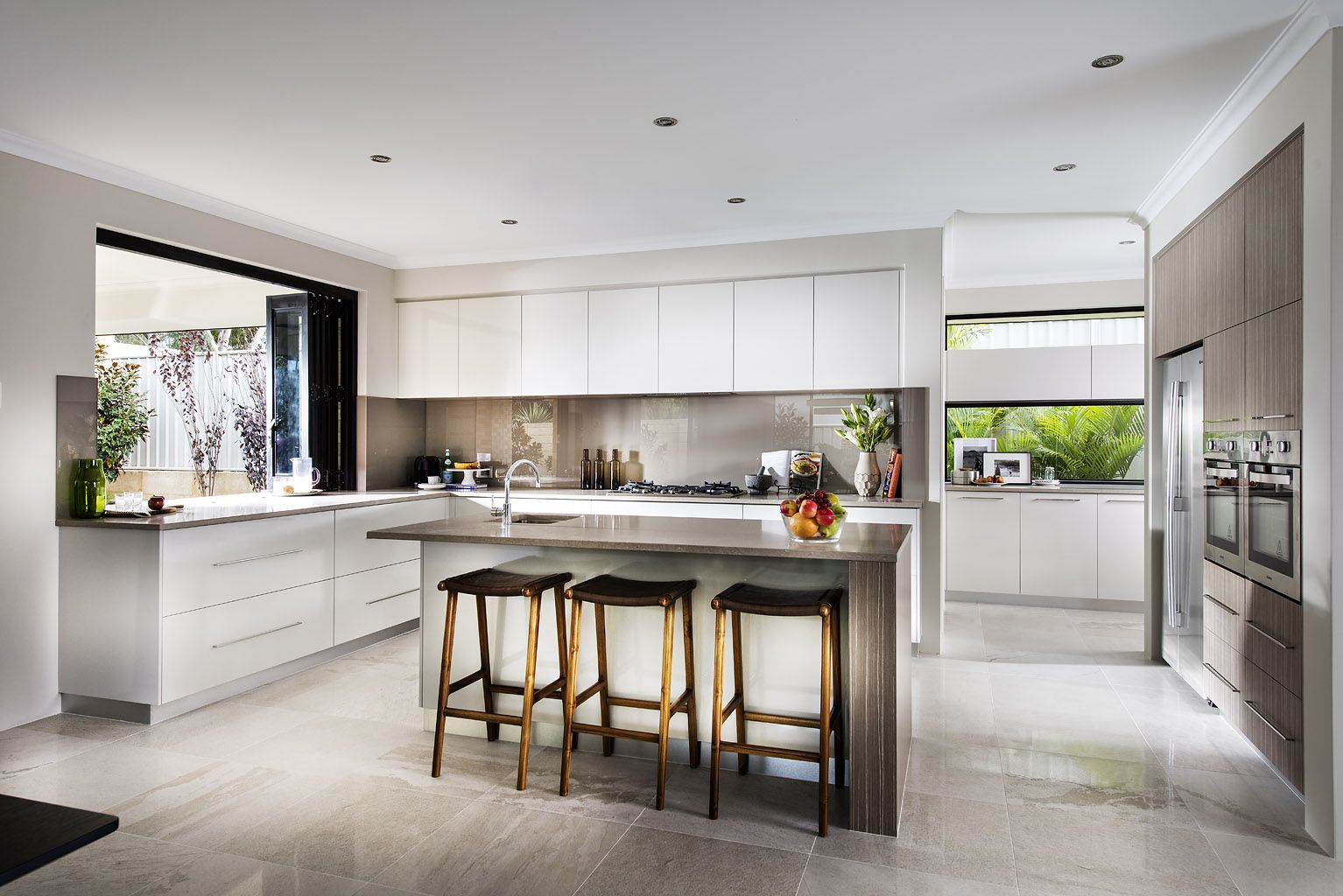 Nine Kitchen Dale Alcock KItchen with scullery - love the bifold ...