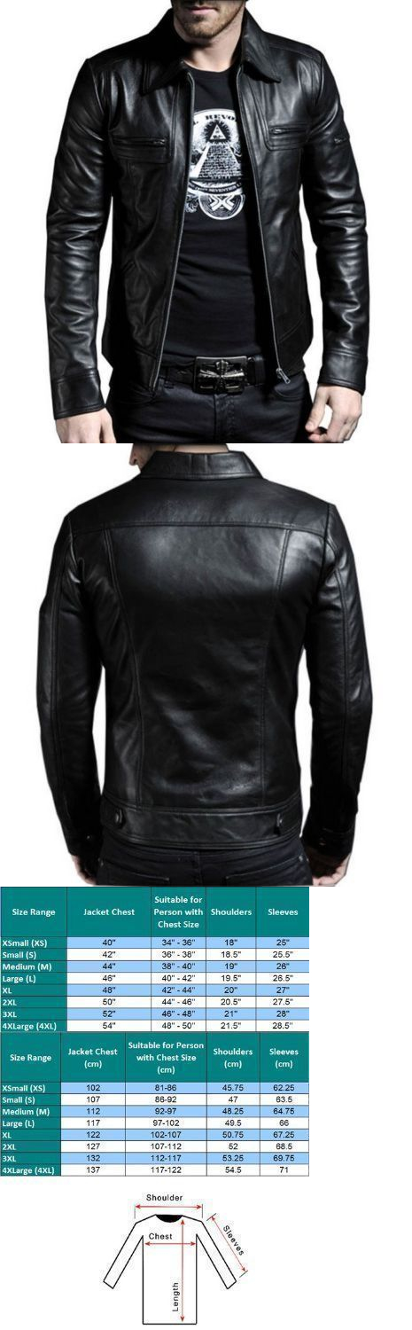 Men Coats And Jackets: Men S Genuine Lambskin Leather Motorcycle Jacket Slim Fit Biker Jacket -> BUY IT NOW ONLY: $104.99 on eBay!