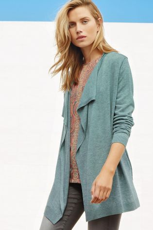 Aqua Merino Wool Blend Waterfall Cardigan | Like | Pinterest ...