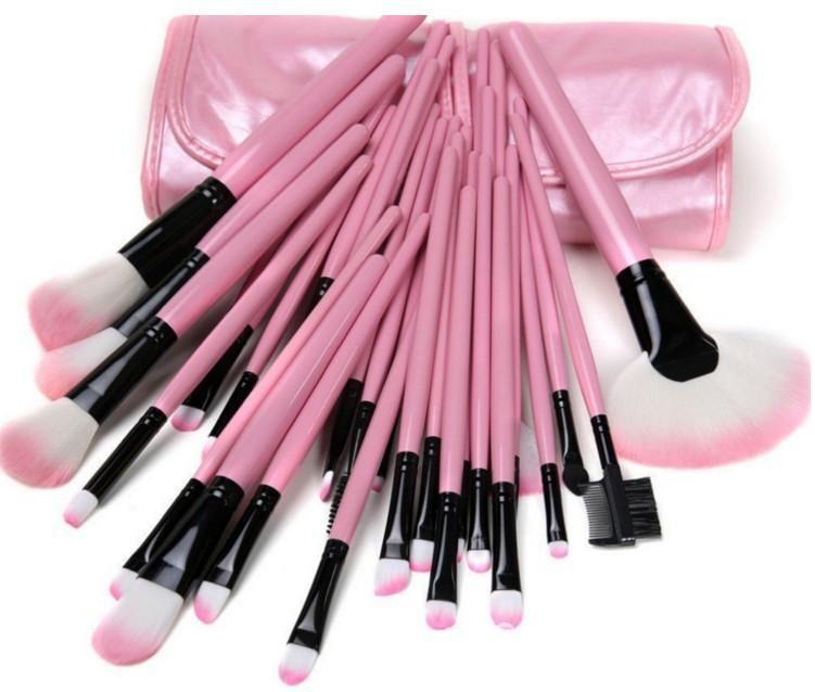 Photo of Pink 32 Pieces Makeup Tools Cosmetics Brush Set SP168281