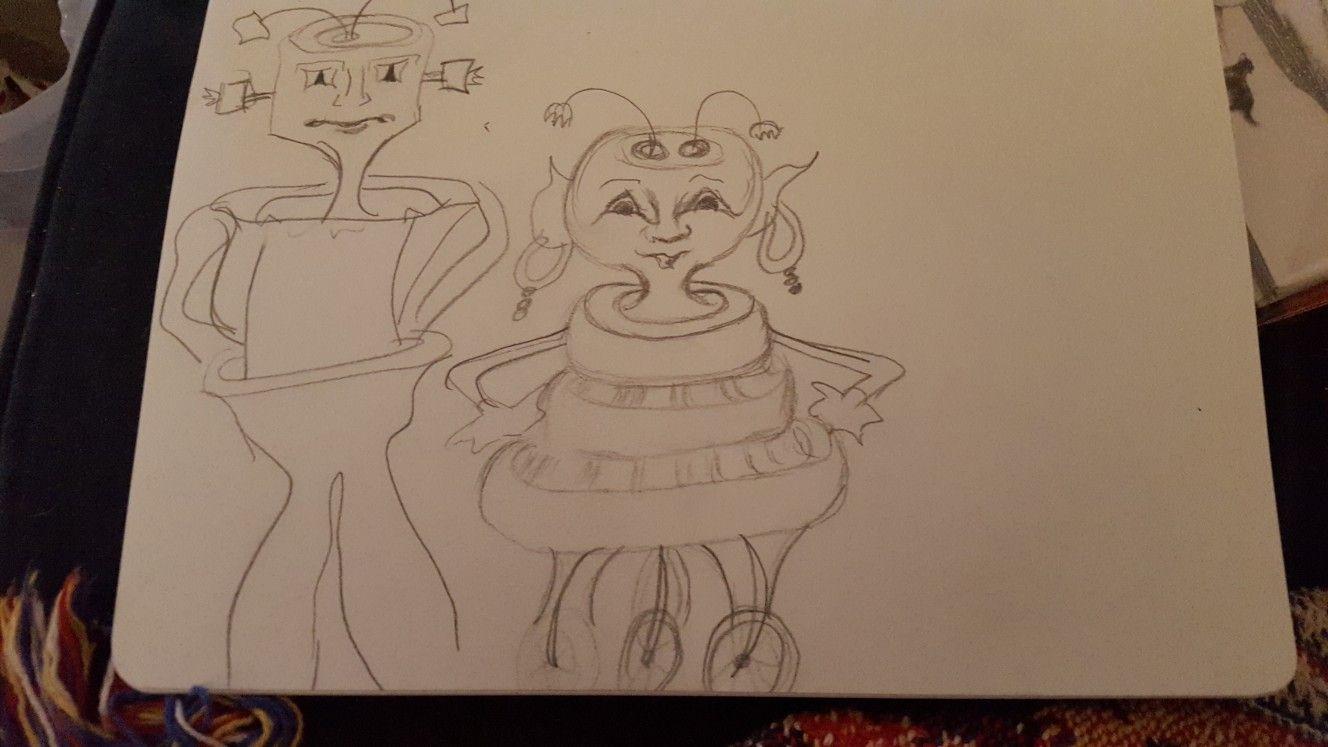 Alien nation Sketches, Female sketch, Art
