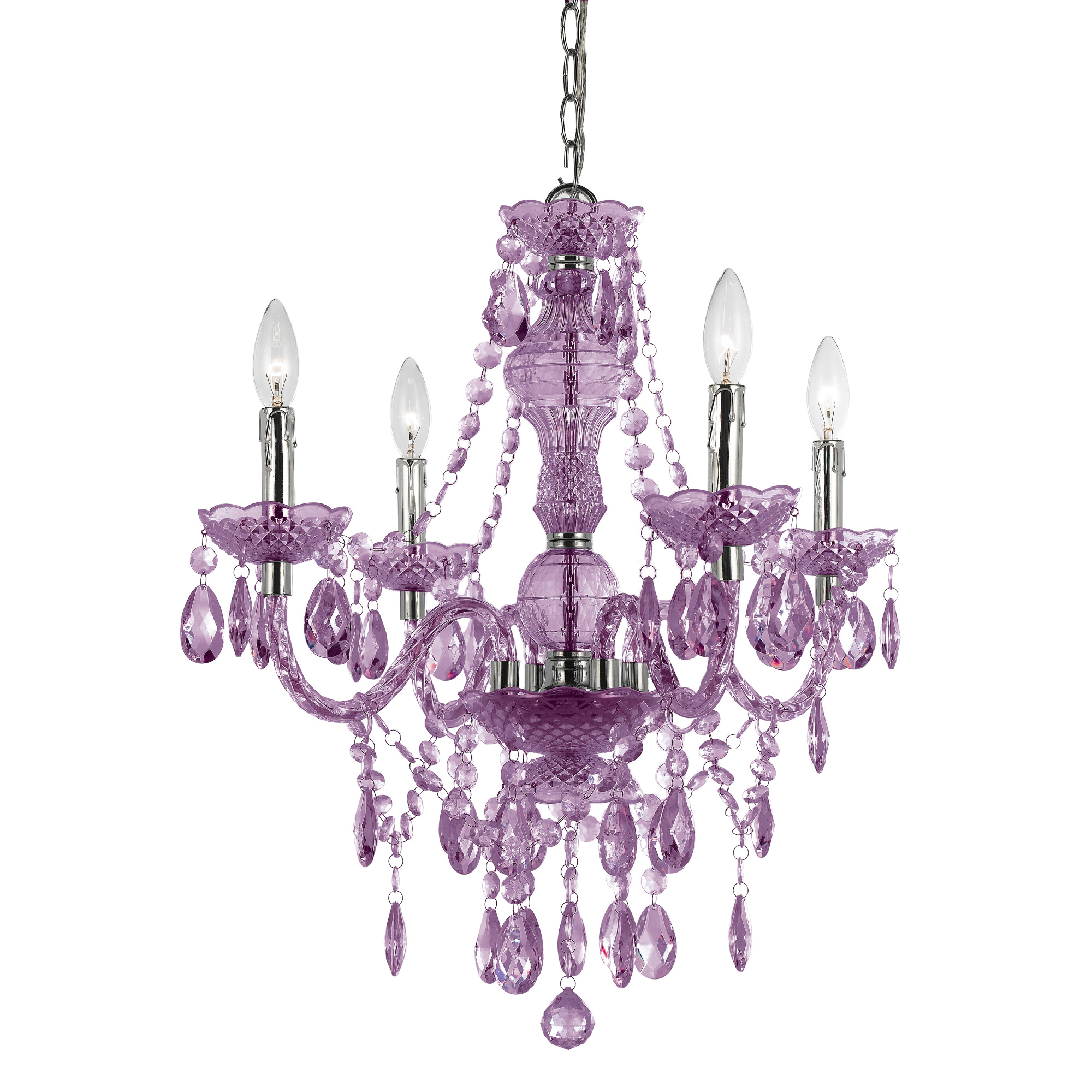 Elements Naples 4-Light Purple Mini Chandelier | AF Lighting | Home Gallery Stores