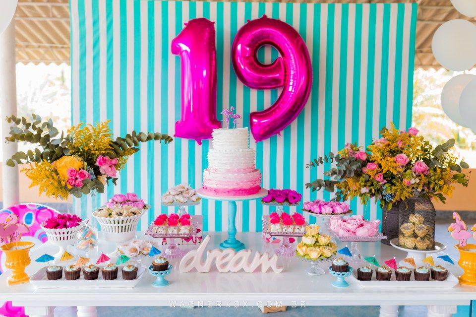 Festa De 19 Anos Da Carol Festas De Adolescentes Aniversario De
