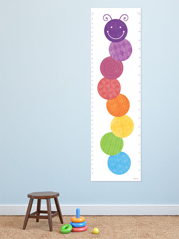 Modern Growth Chart Fun Caterpillar Design For A Bright And Stylish