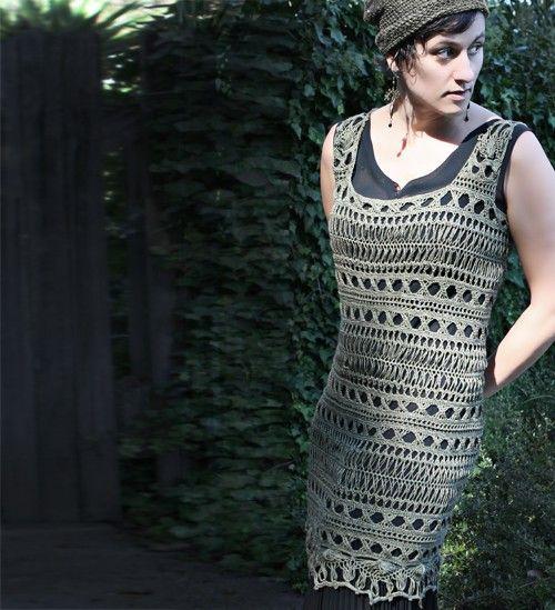 Kit Enigma Tunic Hairpin Lace Crochet Nirvana Bamboo Yarn
