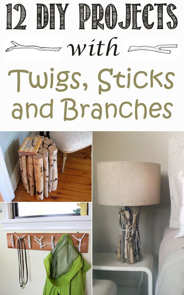 12 Best Diy Projects With Twigs Sticks And Branches Cool Diy Projects Branches Diy Branch Decor