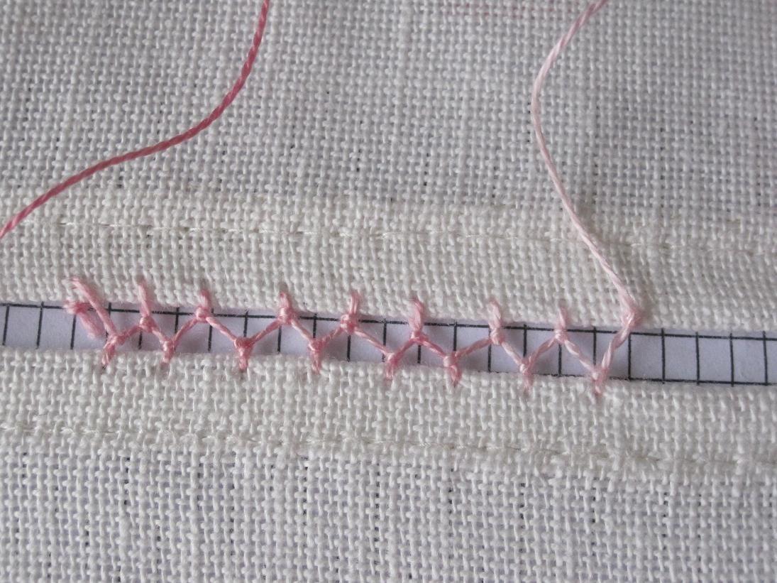 Cretan stitch as faggoting needlearts