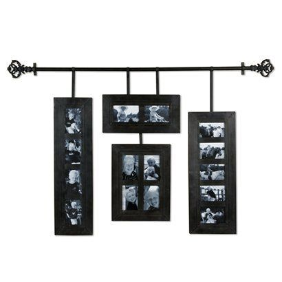 Hanging Collage Frames With Decorative Iron Rod Frame Wall Decor Hanging Picture Frames Frames On Wall