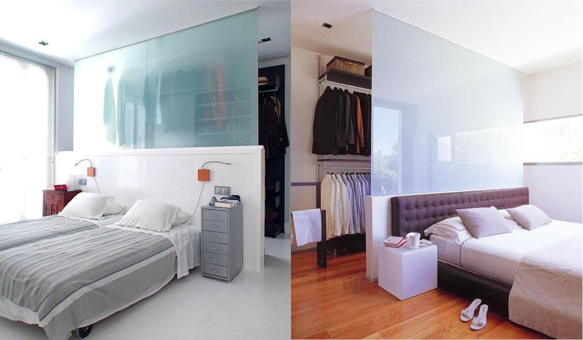20 Beautiful Examples Of Bedrooms With Attached Wardrobes Bedroom Wardrobe Home Wardrobe Behind Bed