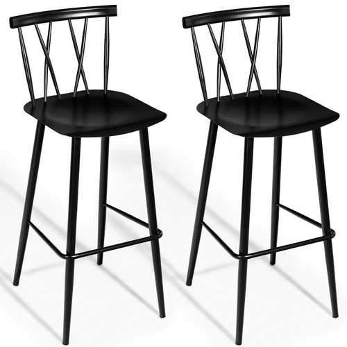 Awe Inspiring Set Of 2 Steel Bar Stool Dining Chairs Products In 2019 Andrewgaddart Wooden Chair Designs For Living Room Andrewgaddartcom