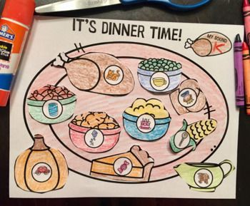 It's Dinner Time Articulation: A Speech Therapy Craft Activity + BOOM Cards