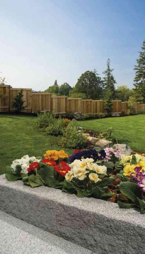 Bordure jardin en pierre Pietra