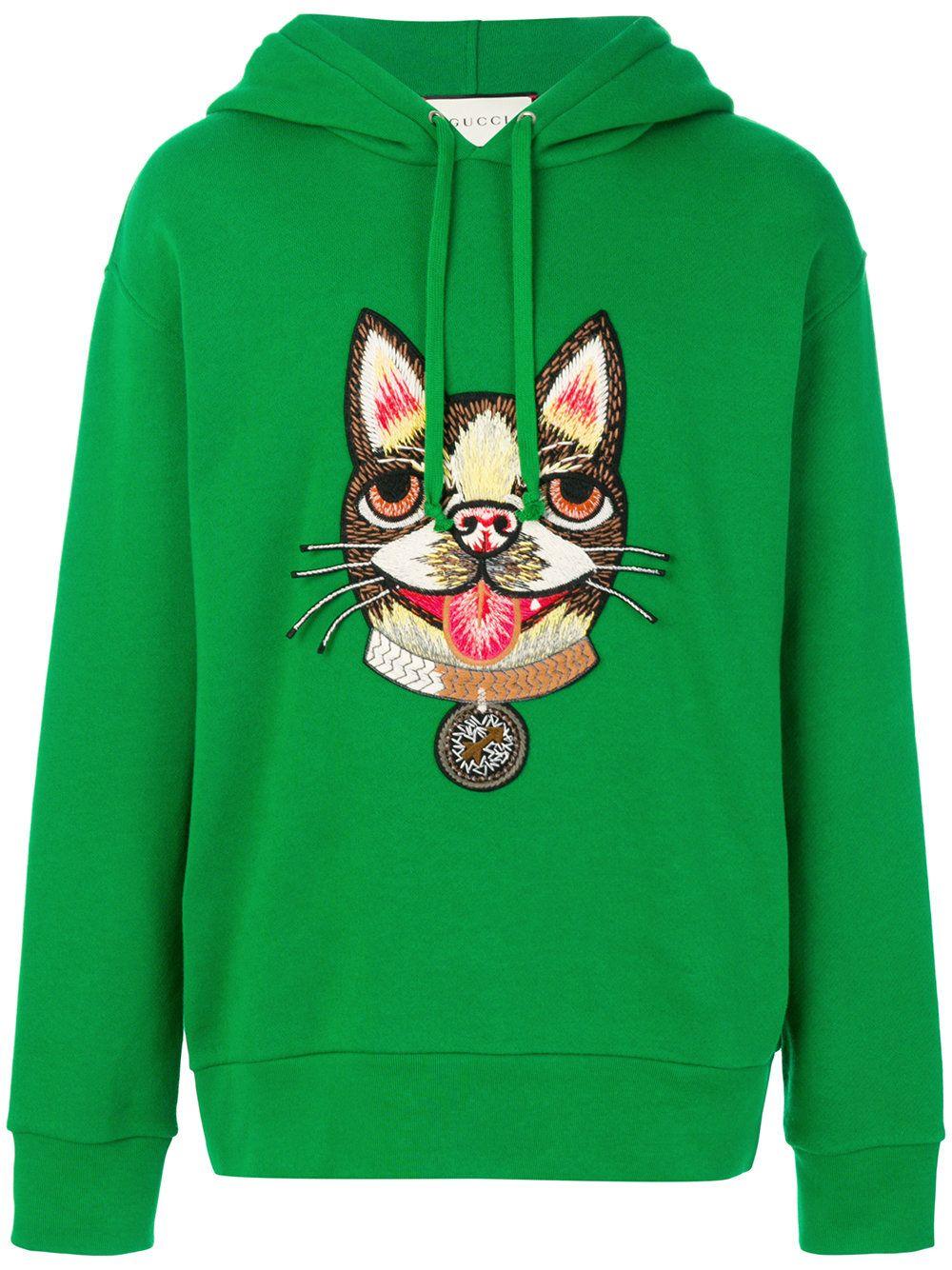 b88f701a7 GUCCI GREEN. #gucci #cloth # | Gucci Men | Gucci hoodie, Embroidered ...