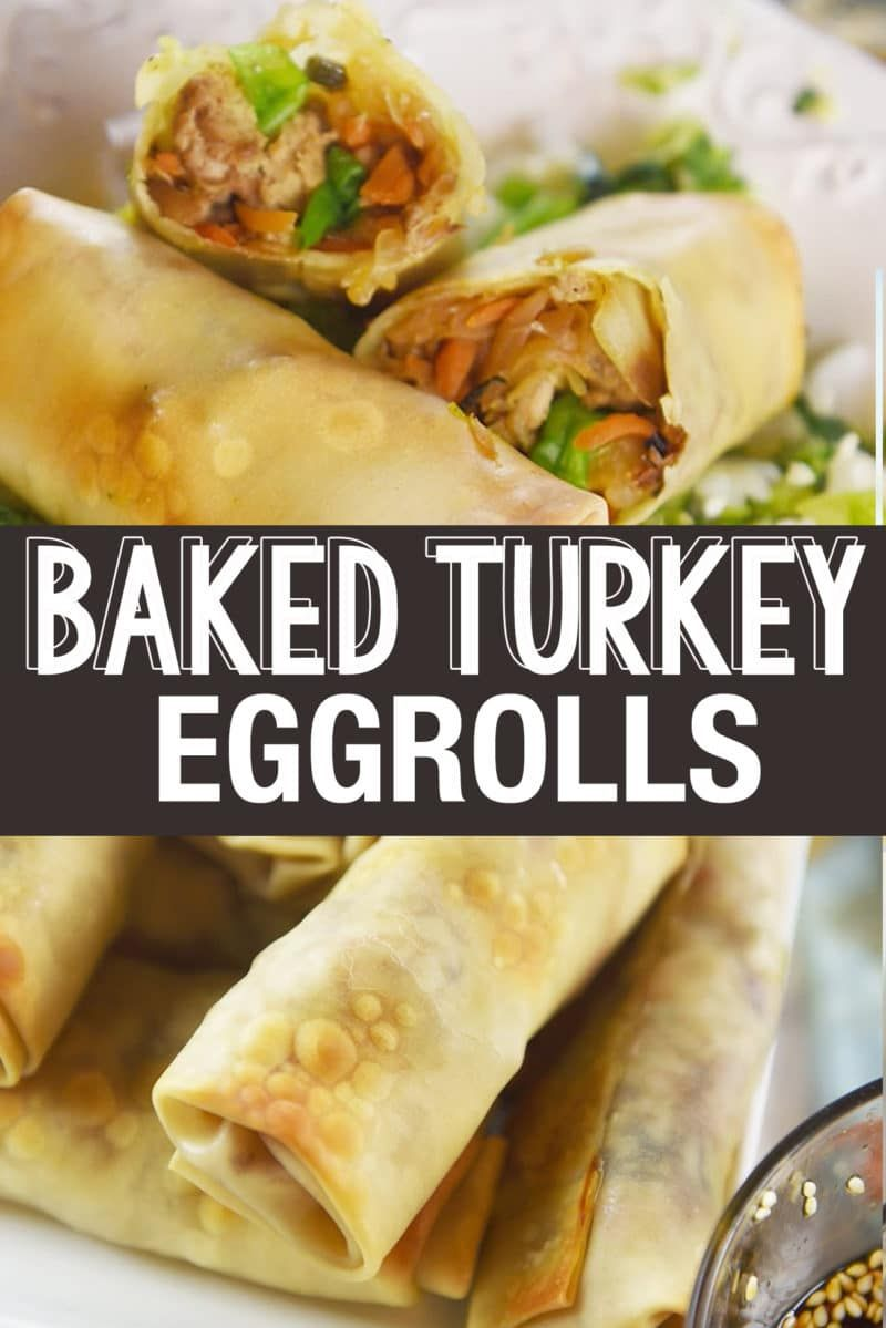 These Baked Turkey Egg Rolls are so yummy that we never miss the take out version Baked Turkey Egg Rolls are a delicious dinner side dish or a great option for party appe...