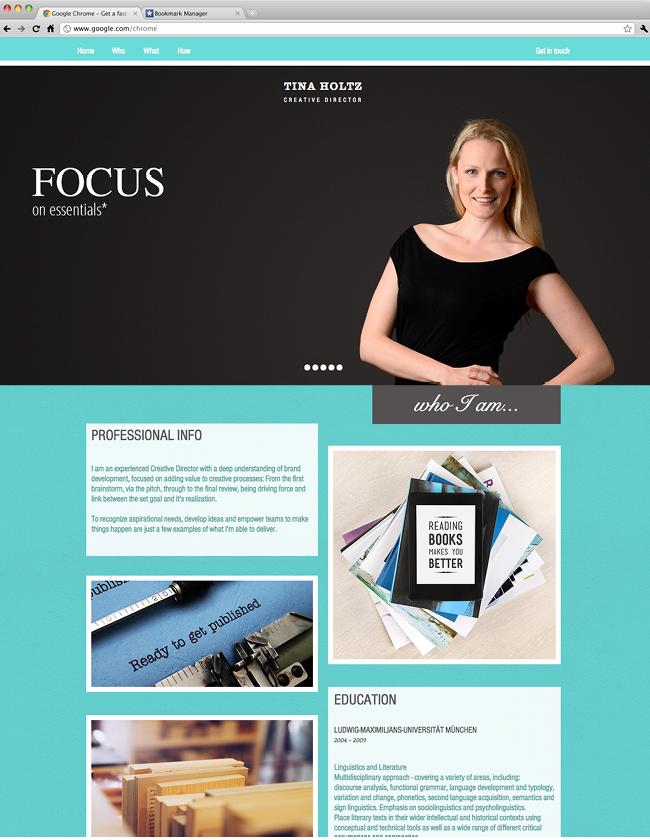 Tina Holtz Creative Director Inspiring Wix Websites