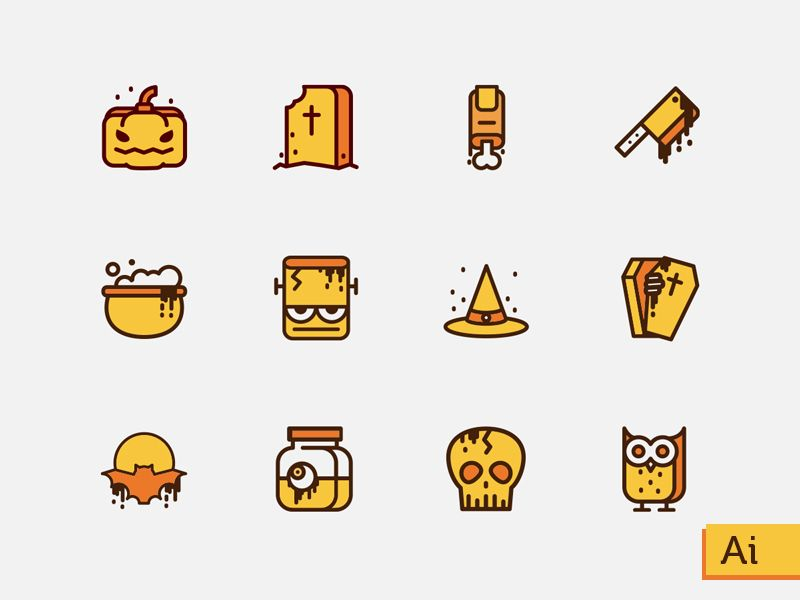 dribbble free halloween icons by sooodesign