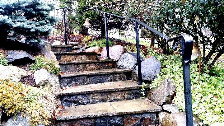 Best Basic Handrail With Lamb S Tail Rail Ends Iron Wrought 400 x 300