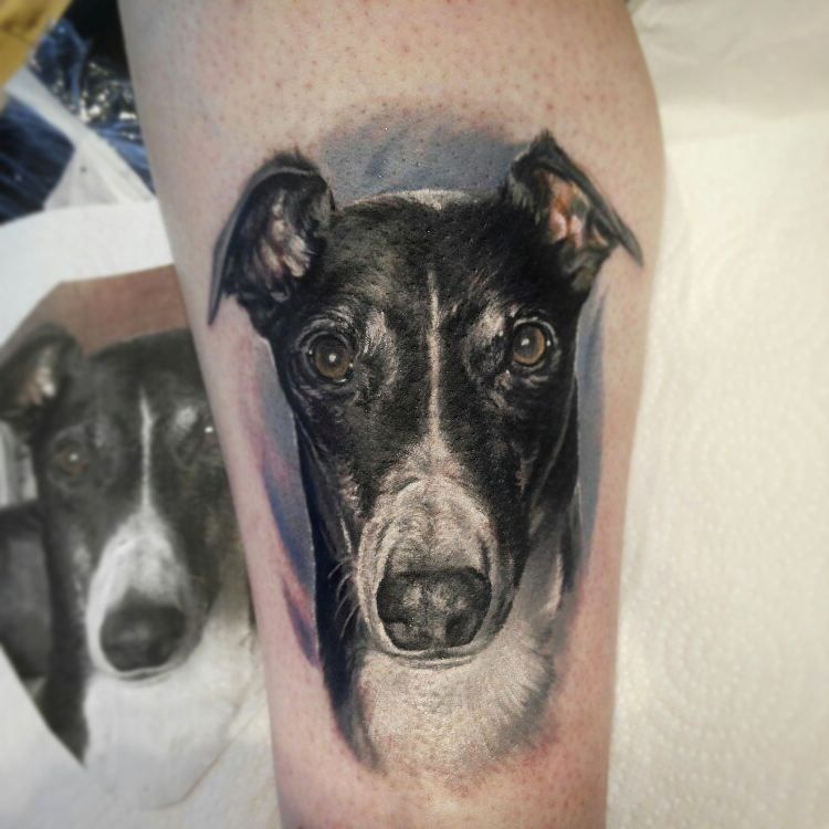 Dog Portrait Tattoo Artist Anastasiya Bortnik Www Holytrinitytattoos Co Uk Holytrinitytattoos Gmai Dog Portrait Tattoo Tattoo Studio Holy Trinity Tattoo