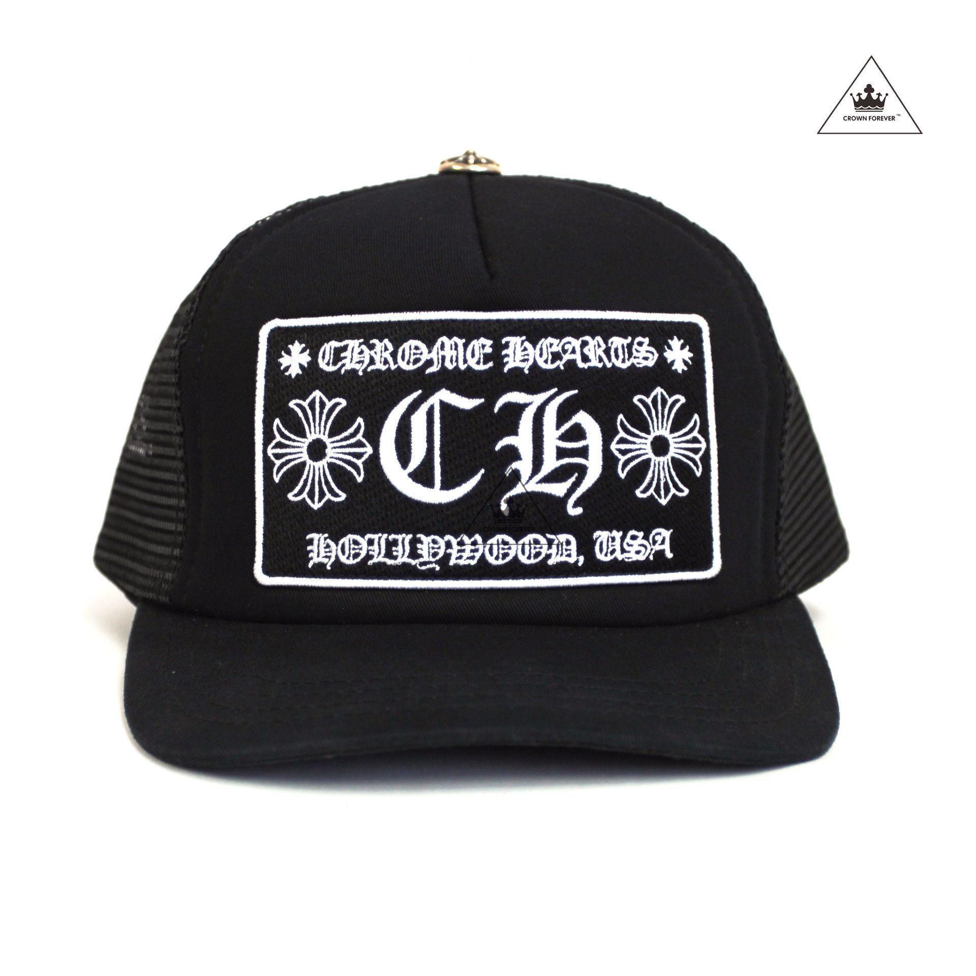 37bd855610c8e Chrome Hearts Hollywood Patch Mesh Trucker Cap - Black Black