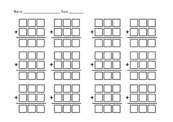Addition Boxes - 2 Digit, 3 Digit and 4 Digit Numbers | 2