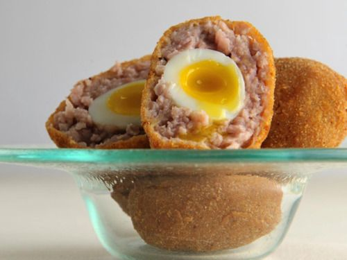 Quail Scotch Eggs by James Sommerin in Great British Chefs App