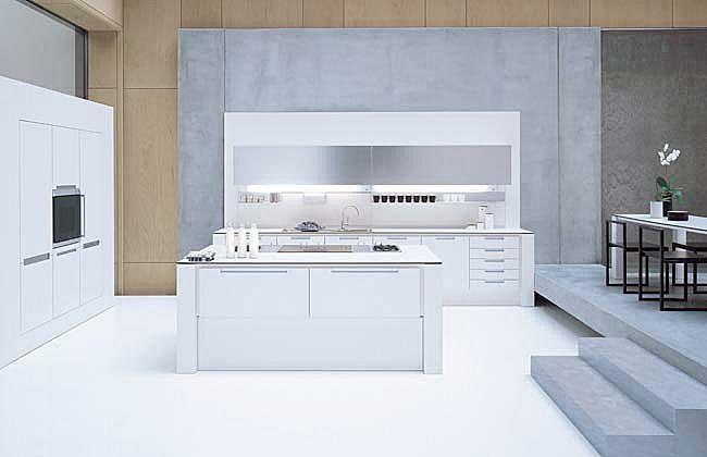 Moderne Laminat-Küche (mit Kochinsel) SX 650 Kitchen Pinterest