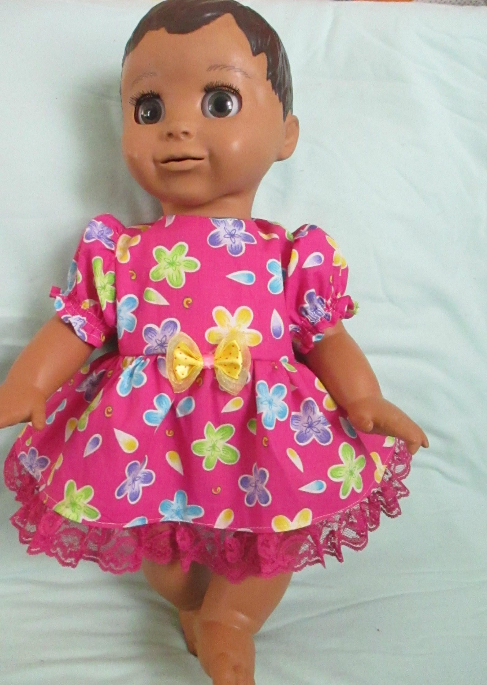 Luvabella Doll Clothes Pink Flower Dress Cotton Boutique Fashion For