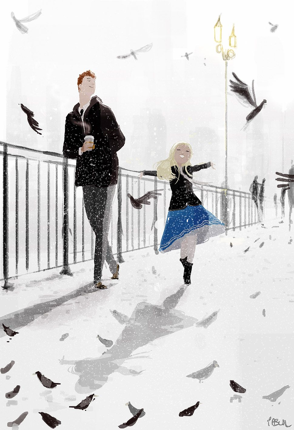 It snowed in March! #pascalcampion