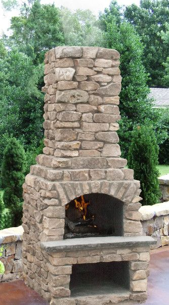 24 Quot Veranda Series Outdoor Fireplace Kit With Natural Stone Veneer Outdoor
