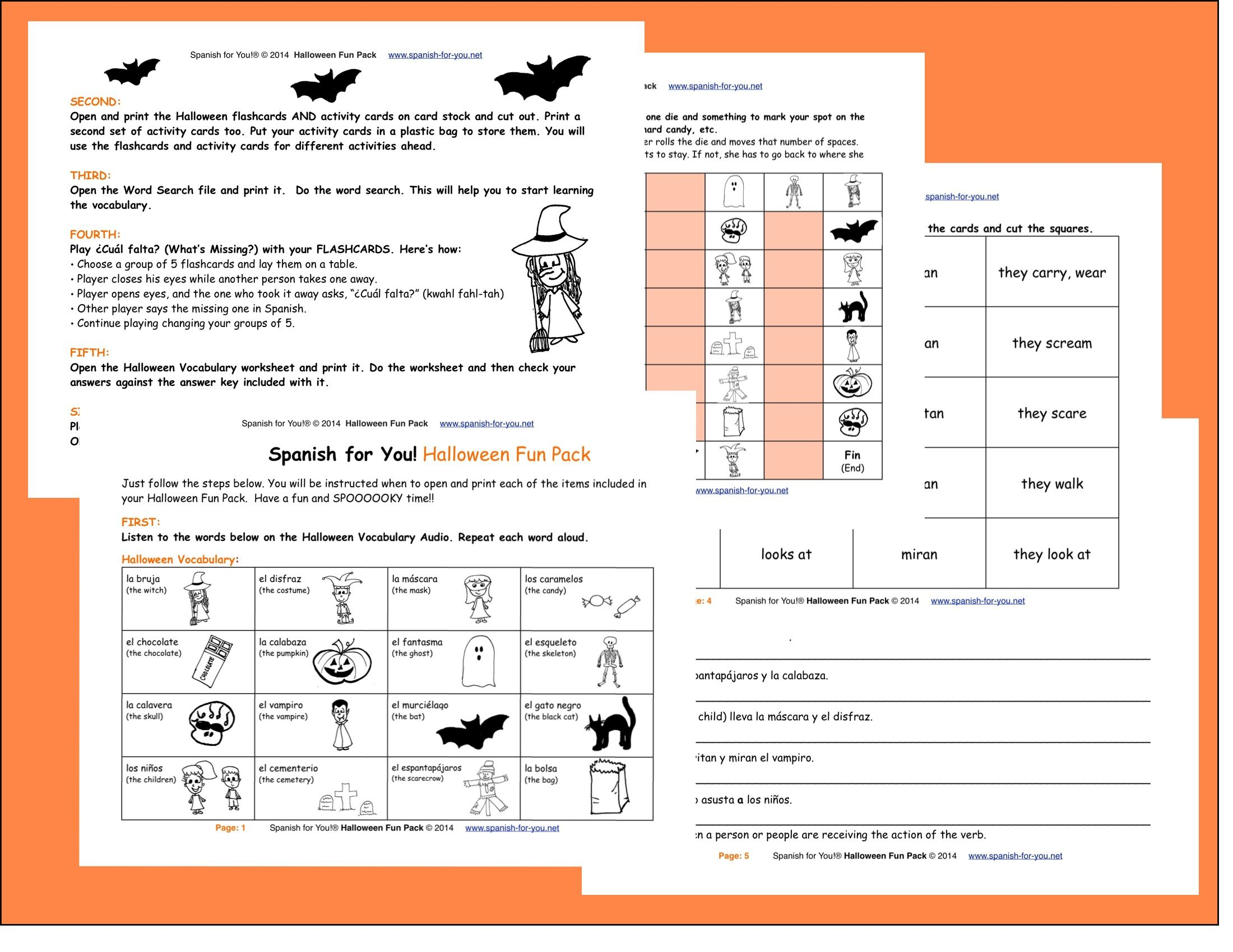 Fun Step By Step Halloween Lesson For Spanish Learners