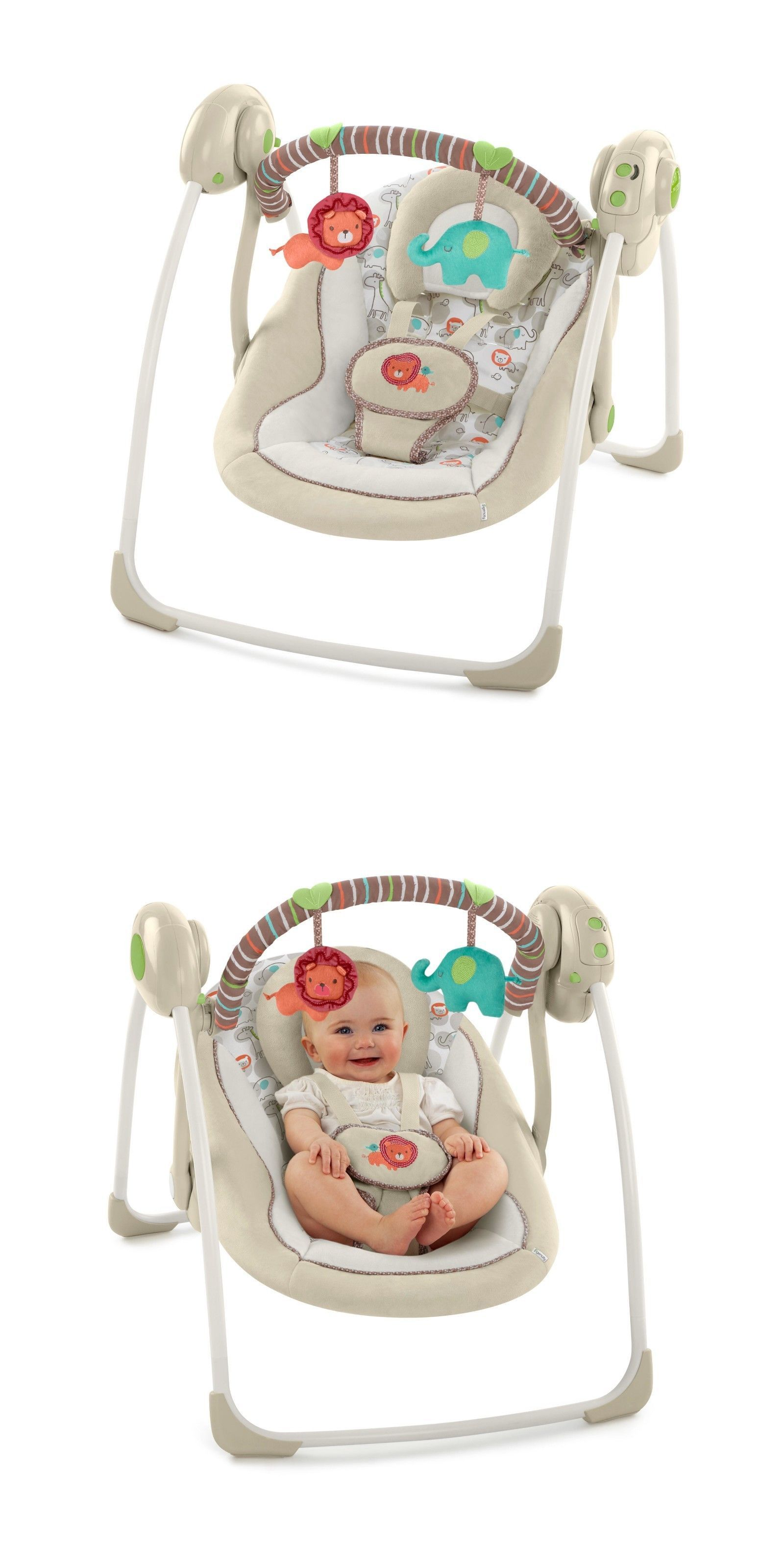 52f0fcd88 Baby Gear 100223  Ingenuity Portable Swing Cozy Kingdom -  Best ...