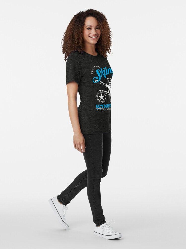 'Skiing ski slope skier' Tri-blend T-Shirt by torlei565 #nikolausgeschenkmann