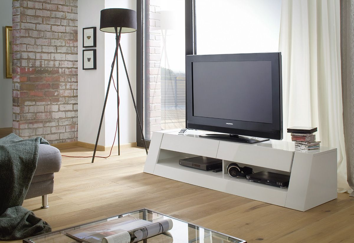 Modern TV Unit in High Gloss White. Buy online UK exclusively at ...