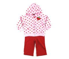 6m / Strawberry hoodie and pant / Chandail et pantalon fraise | Changeroo.ca