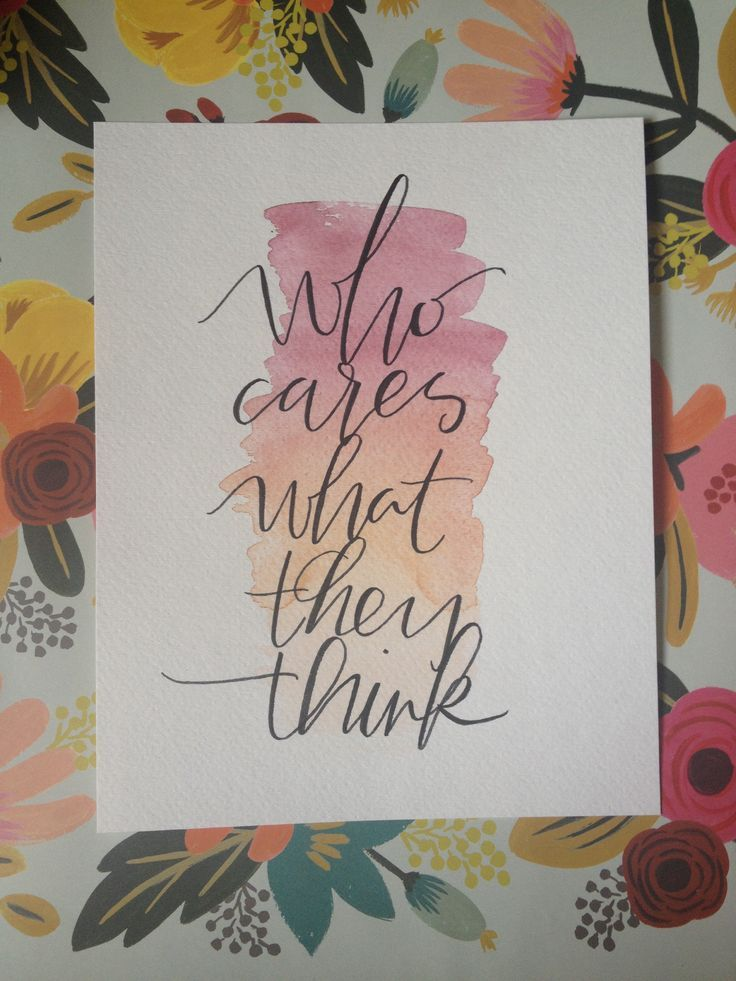 Different quotes brush lettering water color
