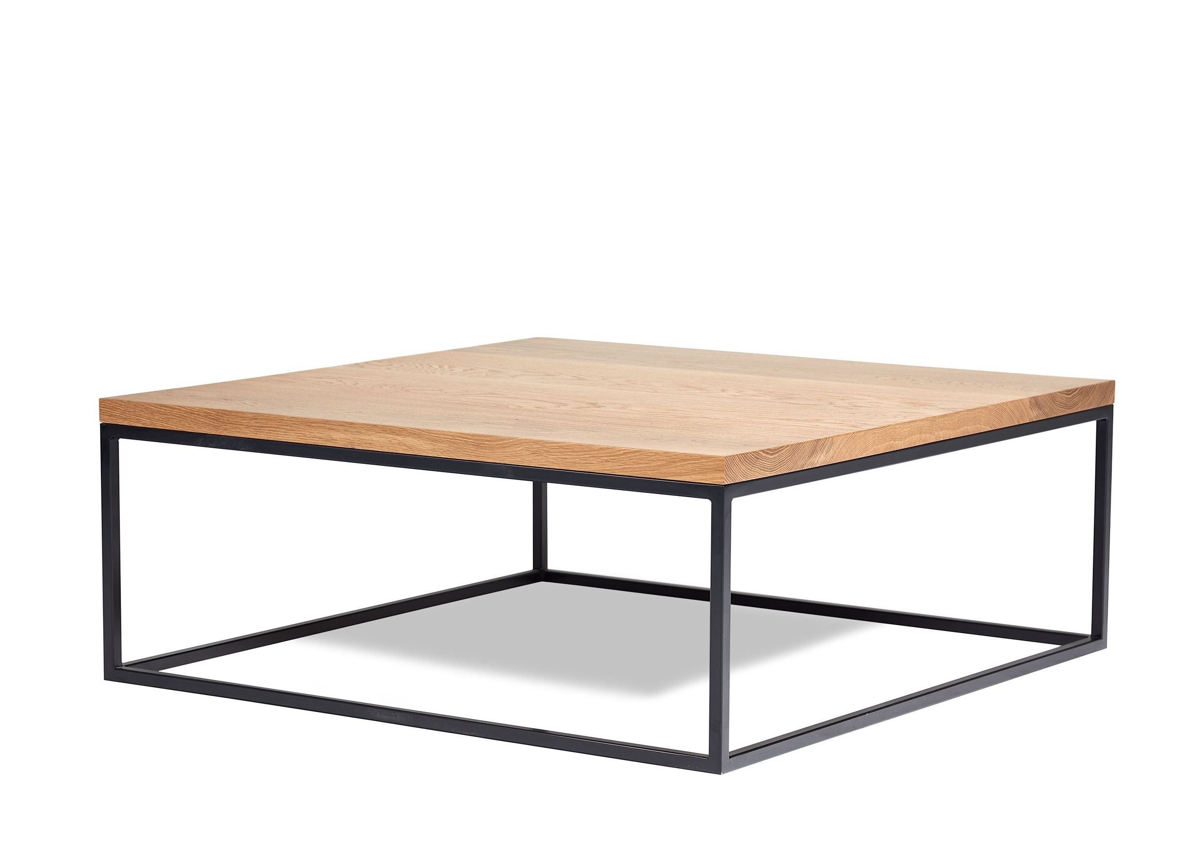 Our Frame Coffee Table Features An American Oak Top With Powder Coated Steel Frame Available In A Ranage Of Custom Size Coffee Table Custom Coffee Table Table