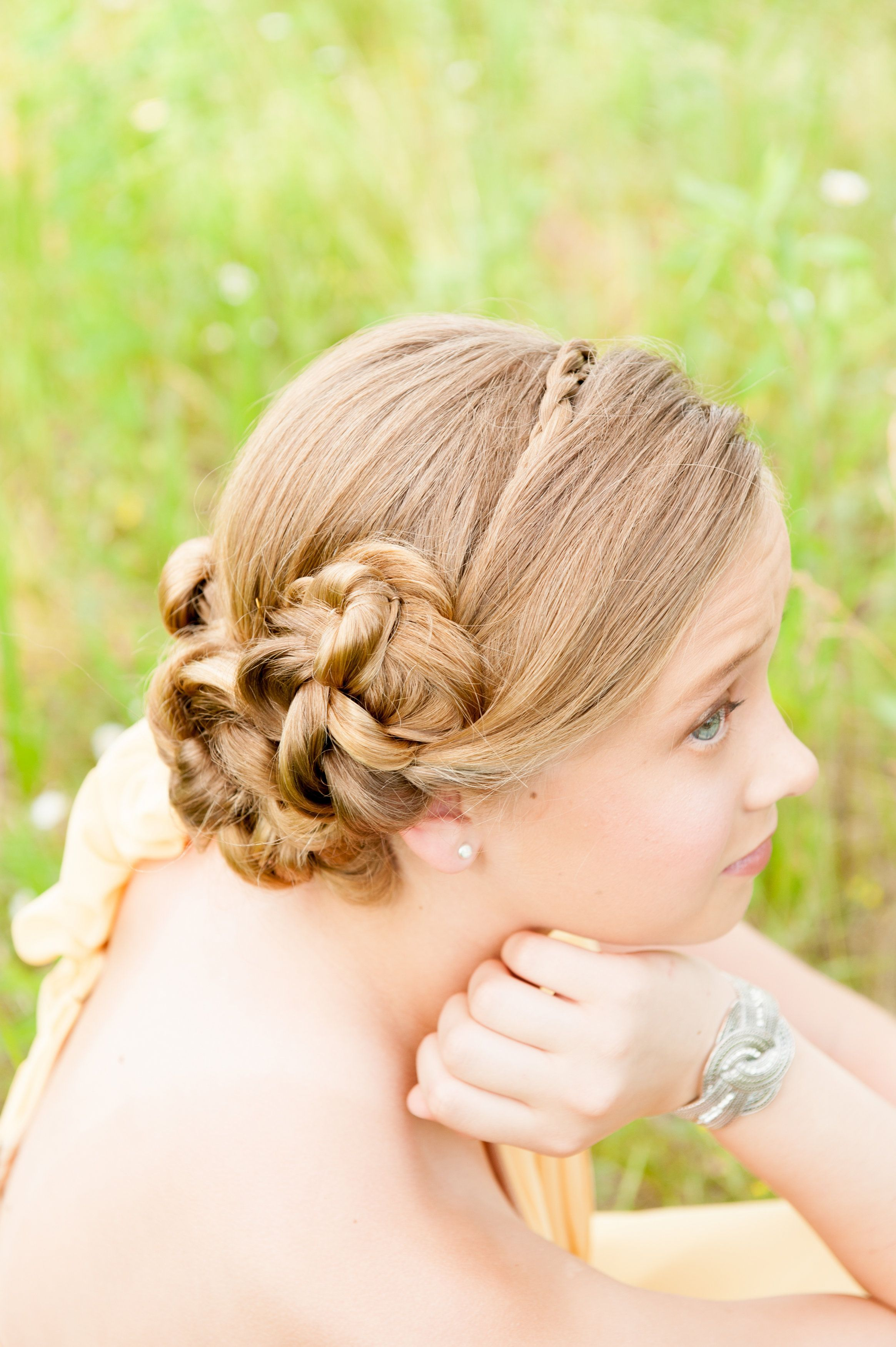 euphoria spalon bridal collection: junior bridesmaid. hair