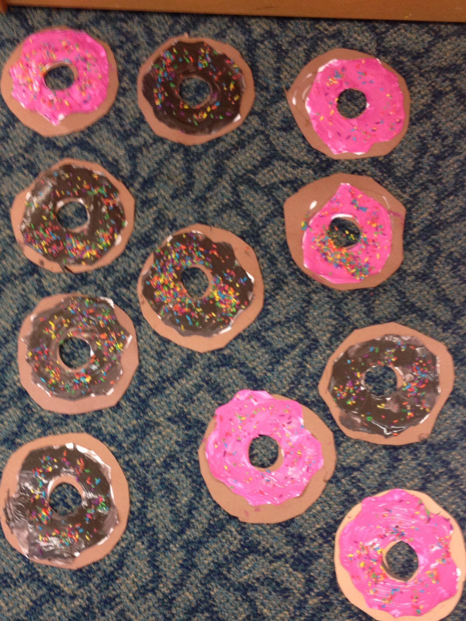 Donuts For The Letter D For Preschool Art