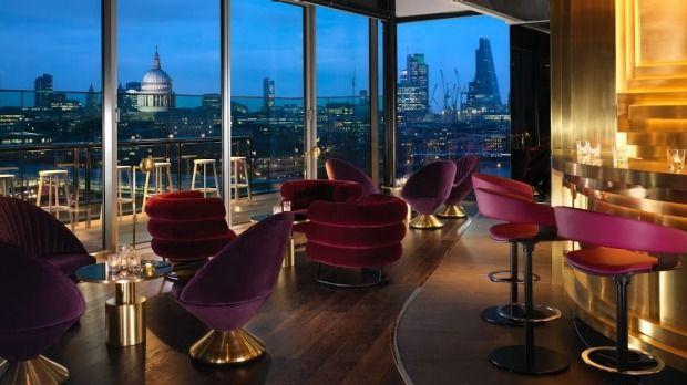 The Mondrian London's rooftop bar Rumpus Room.
