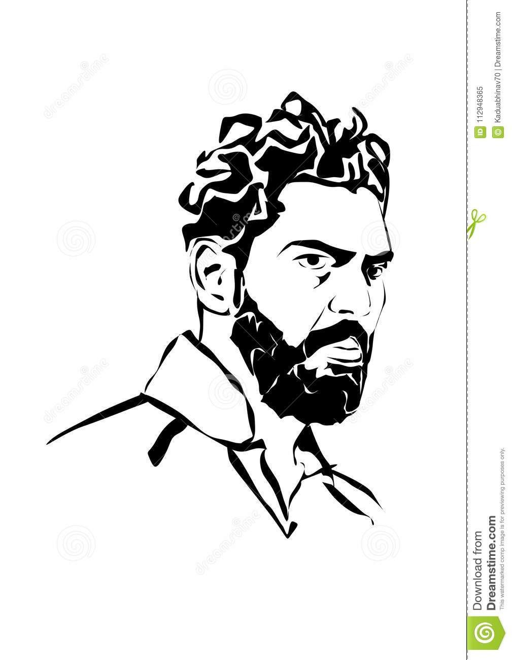 Yuvraj Singh Drawing Black And White