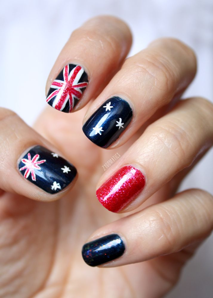 Australian flags re pin nail exchange pinterest australian nail polish art australian flags prinsesfo Gallery