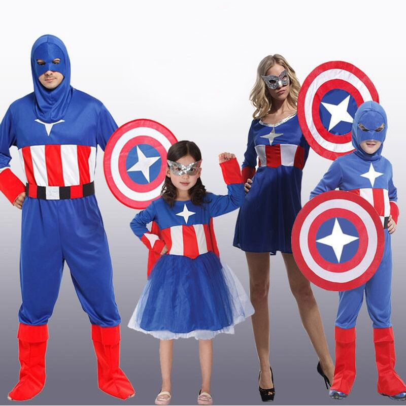 New Halloween Costumes Kids Adult Captain America Cosplay Costume For Masquerade Ball Price USD 26.08 | United States  sc 1 st  Pinterest & New Halloween Costumes Kids Adult Captain America Cosplay Costume ...