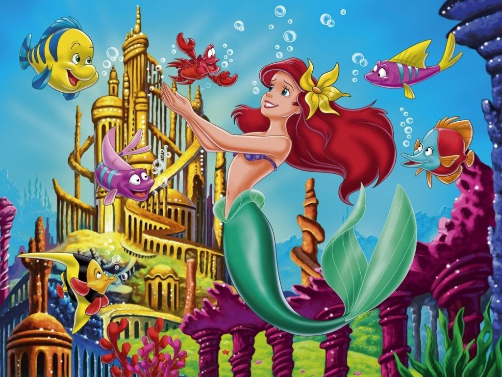 disney screensaver | ariel, the little mermaid wallpaper - disney