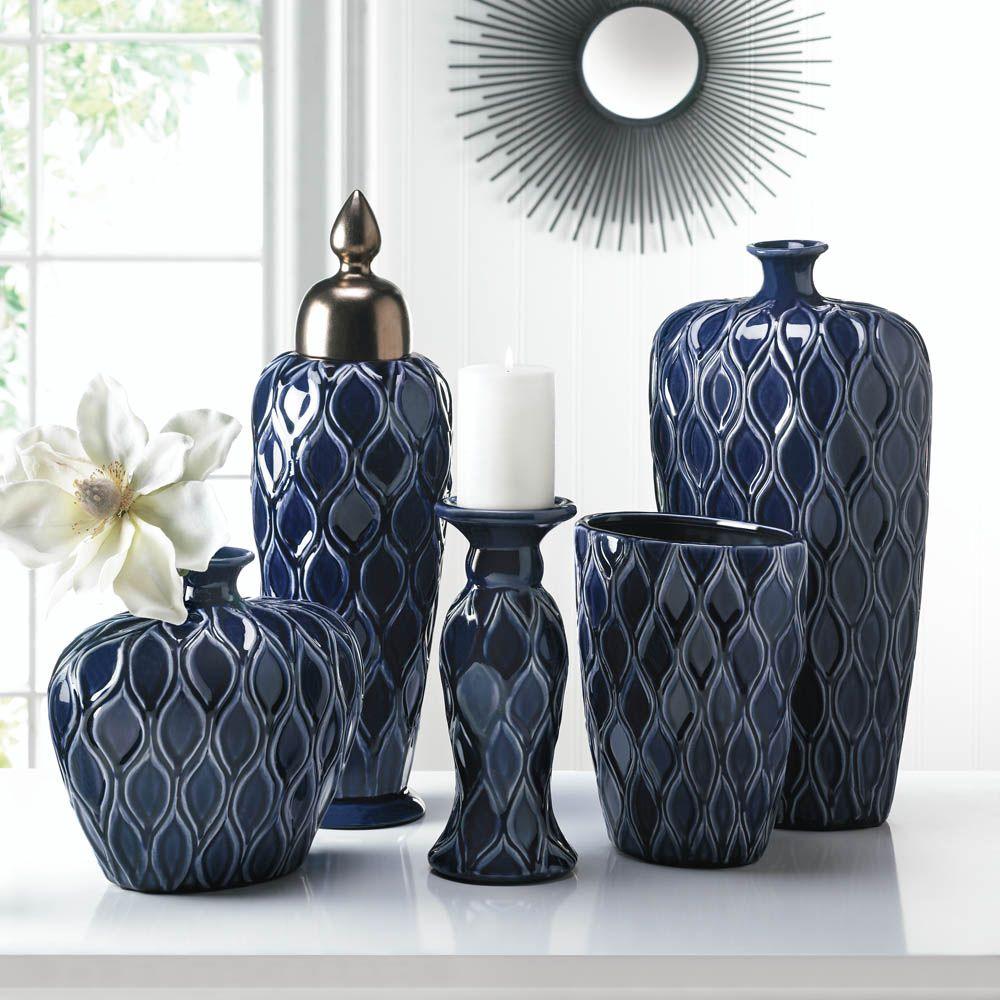 Deep blue vases wholesale at cores