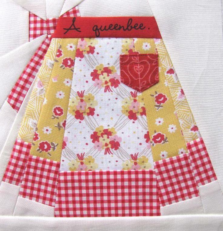 Vintage apron quilt block patterns mandil delantal for Accesorios de cocina vintage