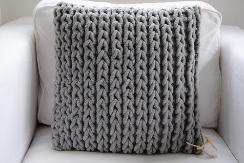 Chunky Knit Pillow I Made A Smaller Striped Version But I